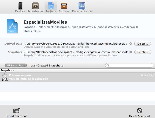 El entorno Xcode